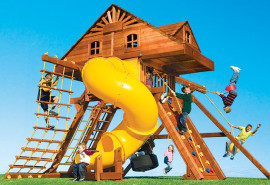 KKCA1-II-RYB-SO-King-Kong-Castle-Cabin-with-Dual-Lofts-and-360-Spiral-Slide-A1
